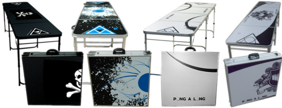 Portable Beer Pong Tables by Pong A Long