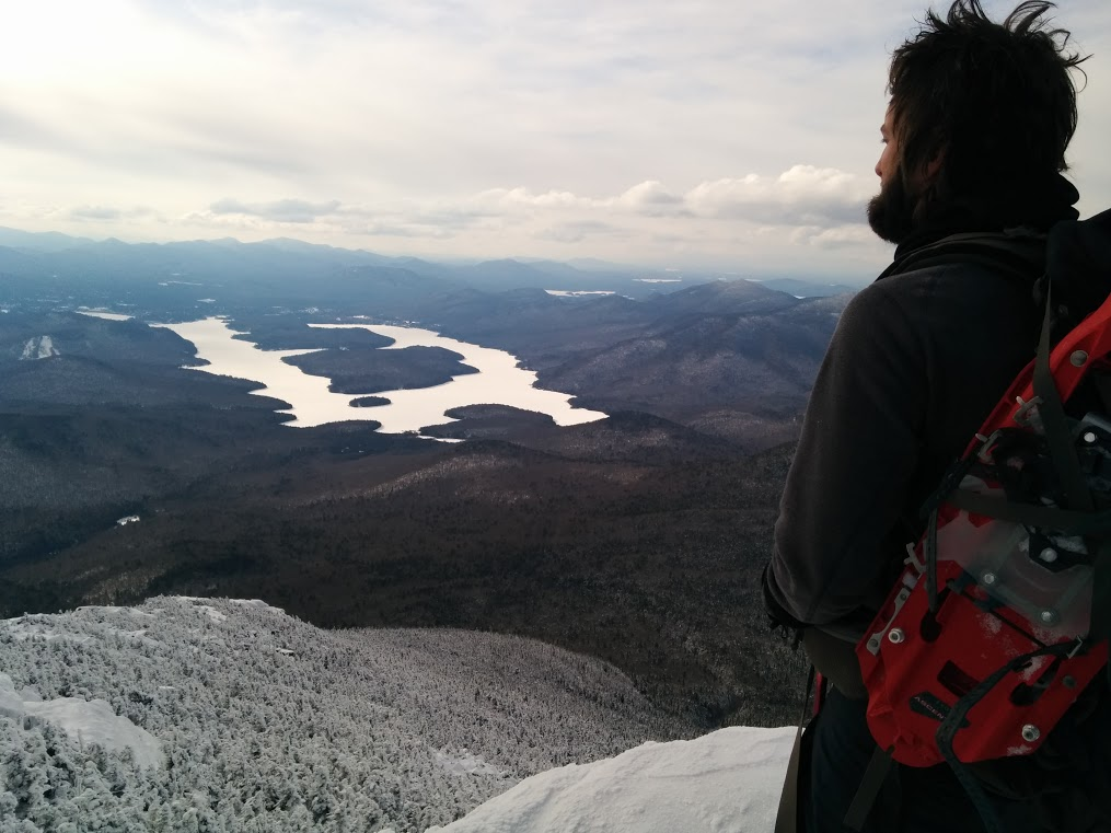At the top of Whiteface Mountain with MSR Evo Ascents