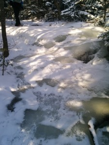 Icy path up Whiteface Mountain