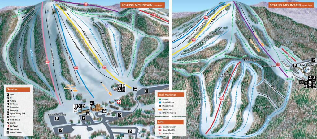 schuss mountain map