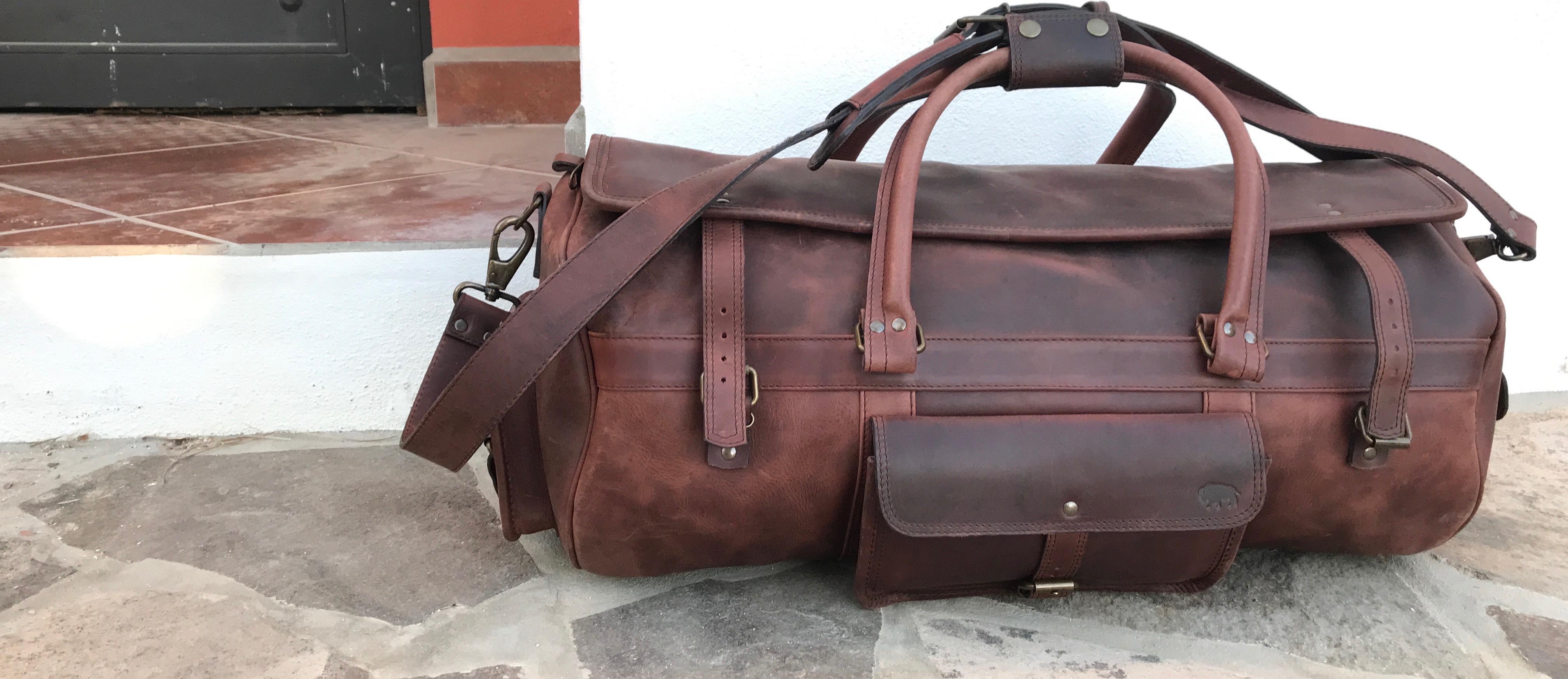 1b0c09fc4c THE ROOSEVELT BUFFALO LEATHER TRAVEL DUFFLE BAG