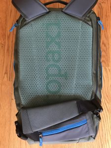 How to angle the Allpa 35L hip-belt straps when not needed.