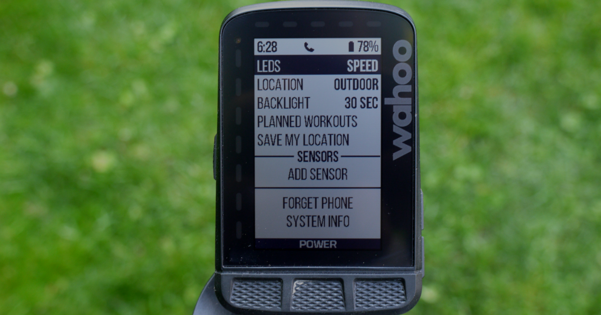 Wahoo ELEMNT ROAM Review_Settings2